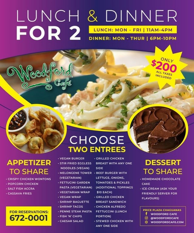 $200 VAT inclusive dining for 2 persons