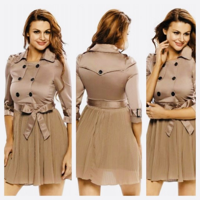 Discounted Pleated Lady Coat Dress!