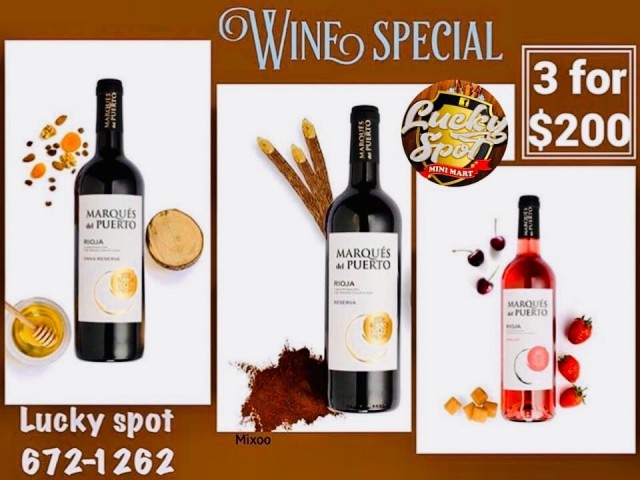 3 Bottles of Wine for $200.00!