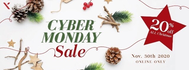 20% Off Cyber Monday Sale!