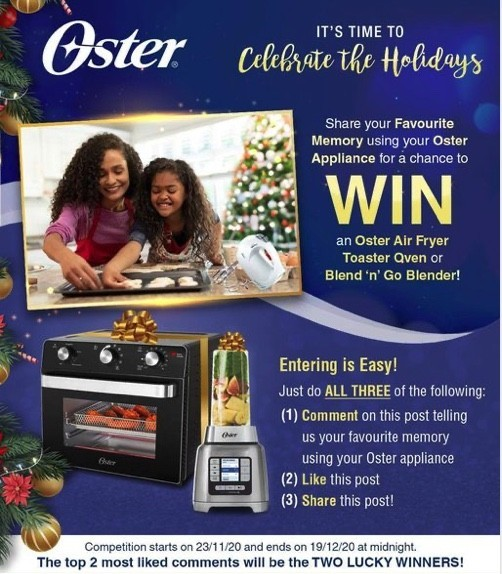 Win a Toaster Oven or Blender