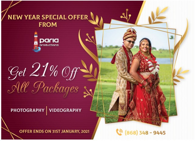 21% Off All Wedding Photography and Video Packages!