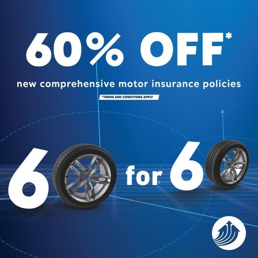 60% Off New Motor Insurance Policies