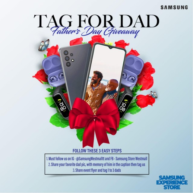 Win a Samsung Galaxy Fit or Buds Pro for Dad!