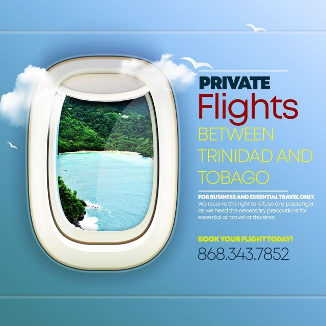 Discounted Fares For Private Flights Between Trinidad and Tobago!