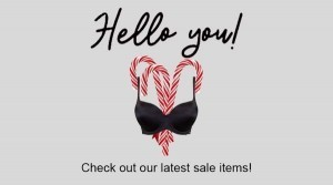 10% off Lingerie home delivered for Christmas