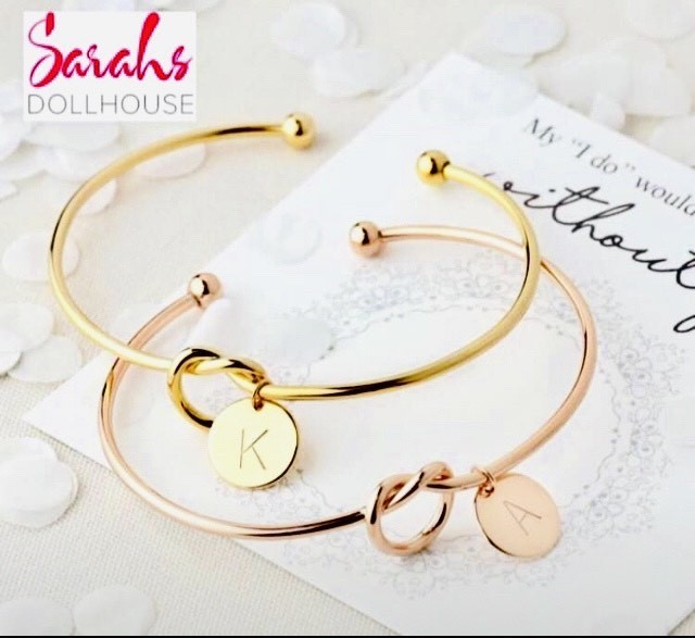 Specially Priced Initial Knot Bangles