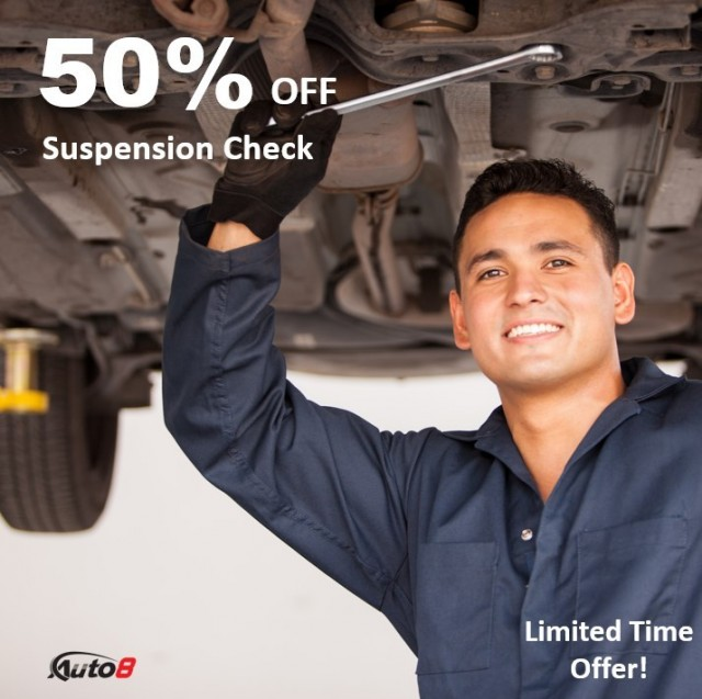 50% Off Your Suspension Check!