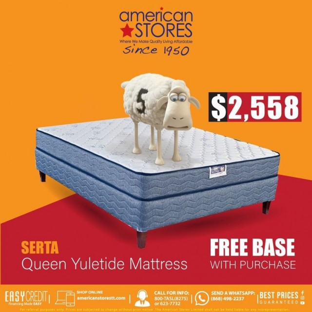 Get a Free Base with the Purchase of a Serta Yuletide Queen Mattress!